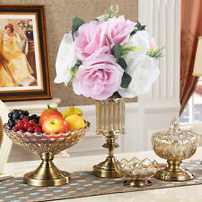 New Listing11 Heads Artificial Silk Roses Flowers Bouquet for Home Office Party Pink+White