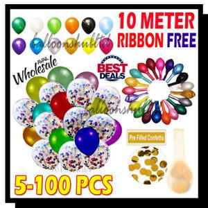 "25 pcs12"" Metallic Pearl Confetti Latex Balloons for Birthday Wedding Party UK"