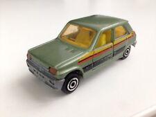 Majorette Nr. 280 - RENAULT 5, grün mit Rallyestreifen, Rarität!