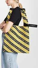 ALEXANDER WANG⚡️SOLD OUT Jacquard knit yellow stripe logo shopping tote bag