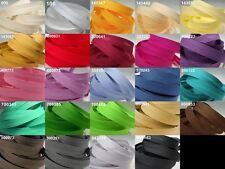 Baumwoll-Schrägband 20mm / gefalzt 10mm Baumwolle * Meterware * Kantenband