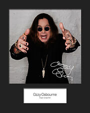 OZZY OSBOURNE #3 10x8 SIGNED Mounted Photo Print - FREE DELIVERY