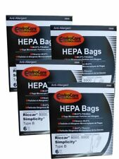 24 pk Type B Vacuum Bags For Riccar 8000 8900 Series Part A846-6, Qty 4
