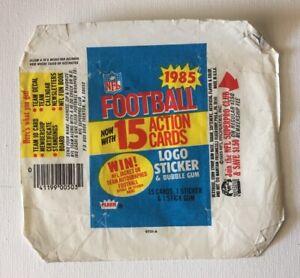 FLEER NFL 1985 Football Action Card Series WRAPPER - Original - WRAPPER ONLY