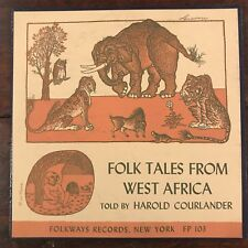 "1951 Folk Tales From Africa By Harold Courlander 78 Rpm 10"" Free Shipping"