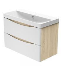 Waschtisch mit Unterschrank Waschbecken Badmöbel Set 50/60/80cm Badezimmermöbel)