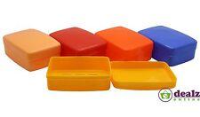 2 X Plastic Soap Travel Box Dish Holder Bathroom Caravan Holiday