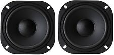 "NEW PAIR 5-1/4"" / 5.25""  Vintage Retro Square Frame Speaker Subwoofer Woofer"