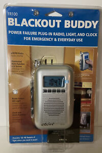 FR-100 Eton Blackout Buddy Power Failure Emergency Radio LED Light Clock NEW