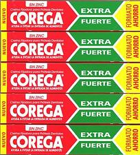 5 x COREGA EXTRA STRONG DENTURE ADHESIVE CREAM 70 gr TOTAL 350g FREE SHIPPING