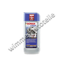 SONAX POLISH + WAX 3 ibrida NPT 250ml 202100 PER TAPPETO E verwitterte le vernici