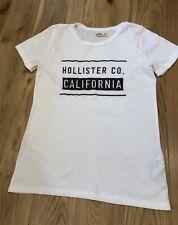 mens hollister t shirt good cond M slim fit white