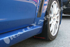 Rally Armor 2008 - 2015 Mitsubishi EVO X UR BLACK Mud Flaps Set Flap w/ RED Logo