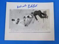 SIBBY SISTI SIGNED 8x10 PRESS PHOTO ~  BOSTON BRAVES ~ BASEBALL AUTOGRAPH