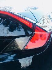 2016 2017 Honda Civic COUPE Tail Light SMOKE Rear Signal Reverse Overlays Precut