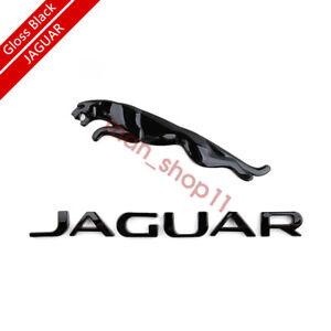Gloss Black Liftgate Tailgate Hatch Emblem Badge Nameplate For Jaguar T2R27585