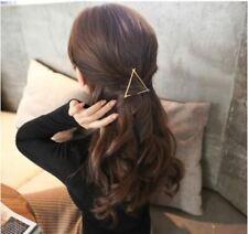 GOLD Triangle Hair Clip Jewellery Wedding Boho Goth Punk Latest Pin Bridal Bride