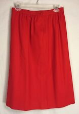 Vintage Pendleton Skirt Size 10 Solid Red 100% Virgin Wool - Made in USA