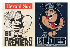 1995 Carlton Blues Premiers Poster Original WEG & Supporter GREAT VALUE!