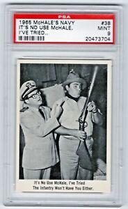 1965 Fleer McHale's Navy #38 It's No Use McHale Joe Flynn Ernest Borgnine PSA 9