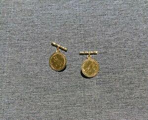 14K Yellow Gold Cuff Links 9g