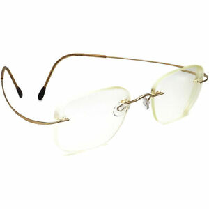 Silhouette Eyeglasses M 7395 /20 V 6051 Titan Gold Rimless Austria 50[]19 140