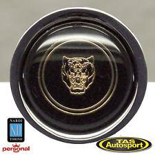 Nardi HORN BUTTON Single Contact Black with Jaguar Logo # 4041.01.0209