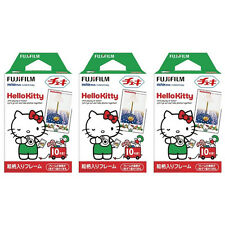 3 Packs 30 Photos Hello Kitty FujiFilm Fuji Instax Mini Film Polaroid 7S 8 SP-1