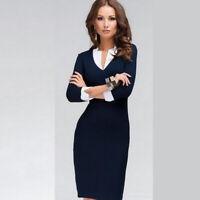 Elegant Women Office Lady Formal Wear Business Work Party Pencil Dress Suit