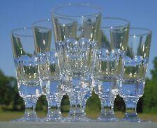 Bayel - Service de 6 verres à absinthes / mazagrans en cristal taillé Signés Hau