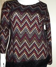 NWT French Laundry Knit  Pullover Top with Lace Trim Size Petite XL