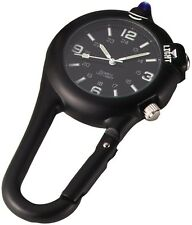 Black or Olive Drab Clip Watch W/ Blue LED Light - Military Style Clip Watches