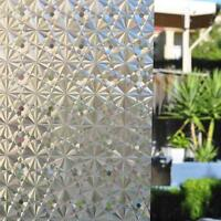 3D Static Cling Privacy Frosted Window Film Glass Paper Home Decor 90cm x 1m