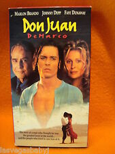 Don Juan DeMarco VHS 1995 ~ Johnny Depp ~ Marlon Brando ~ Faye Dunaway