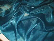 TEAL IRIDESCENT SPARKLE 100% POLYESTER ORGANZA FABRIC  45