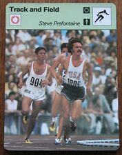 1977 Steve Prefontaine Sportscaster USA Olympics Track & Field Card #19-08