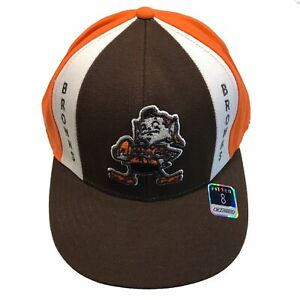 Cleveland Browns NFL Reebok On Field Retro Throwback Size 8 Fitted Cap Hat $25