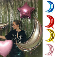 Moon Shaped Foil Balloons Wedding Birthday Party Baby Shower Decor 30'' 36''