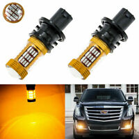 Amber Error Free PH24WY LED Bulbs Front Turn Signal Light For Cadillac CTS 2009+