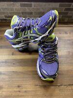Asics Gel Nimbus 16 T485N  Running Shoes Purple Teal Women's Size 8