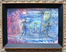 Peinture à l'huile d'Antonio Vasquez Parra - Danse - Surréalisme - XXème - 1958