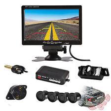 "Car Parking Radar System + 7"" Car TFT Monitor + Car Rear View Backup Camera Kit"