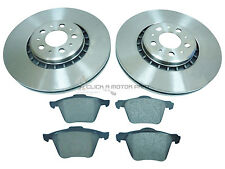 VOLVO XC 90 XC90 2.4 D5 2003-2011 FRONT 2 BRAKE DISCS & PADS CHECK SIZE CHOICE