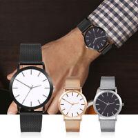 Herren Armbanduhr Mesh Silikon Armband Einfach Zifferblatt Analog Quarzuhr
