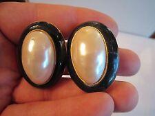Pearl - See Pics - Bba-5 Ginnie Johansen Earrings - Large Faux