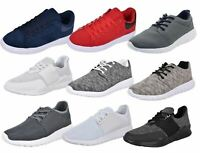 New Mens Trainers Gym Gents Mesh Light Weight Laced Running Sports Fitness Shoes