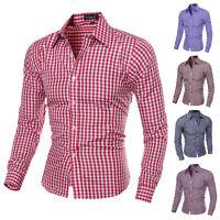 New Fashion Luxury Mens Formal Shirt Casual Suits Slim Fit Dress Shirts