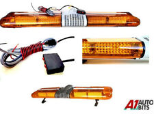 Led Warning Light Bar Beacon Amber Recovery Strobe 24v 24 Volt Fixed 1200mm 47
