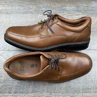 Johnston and Murphy Stanton Moc Toe XC4 Tan Sheepskin Derby Oxford Size 7.5