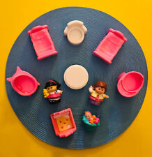 Vtg Preschool, Mattel/ FP/Other Dollhouse Furniture & Doll Figures, 10 pieces
